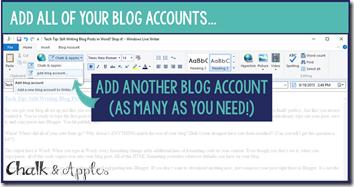 5- Add Blog Accounts
