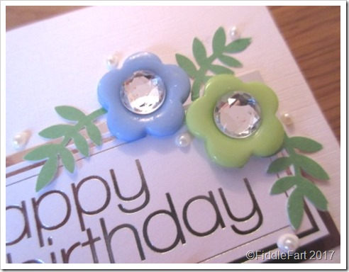 Button Flower Card. 1