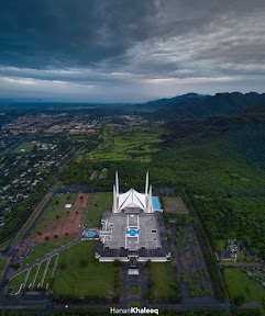 Aerial View Of Faisal Masjid.