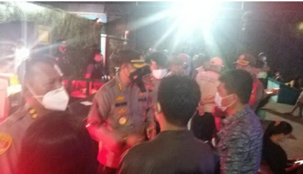 Tim Gabungan Polresta Bandar Lampung Melakukan Razia Prokes Tempat Hiburan dan Hotel