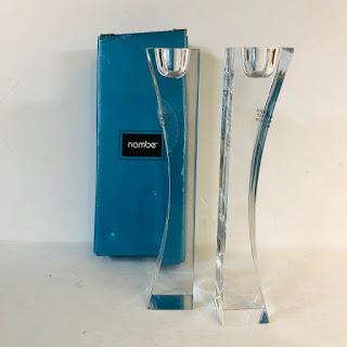 Nambè Crystal Candlestick Pair