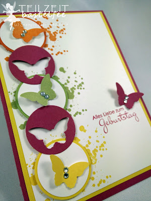 Stampin' Up! - ColorQ Challenge #310, Papillon Potpourri, Perfekte Pärchen, Petite Pairs, Gorgeous Grunge, Circles, Kreise, Birthday, Geburtstag