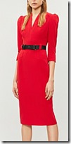 Karen Millen Red Crepe Dress