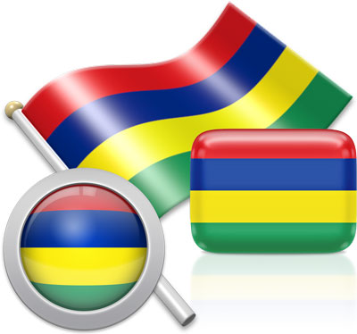 Mauritian flag icons pictures collection