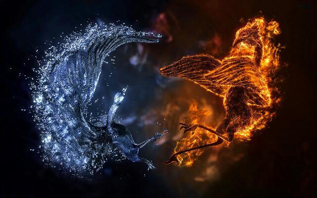 Картинки по запросу fire and ice tattoo