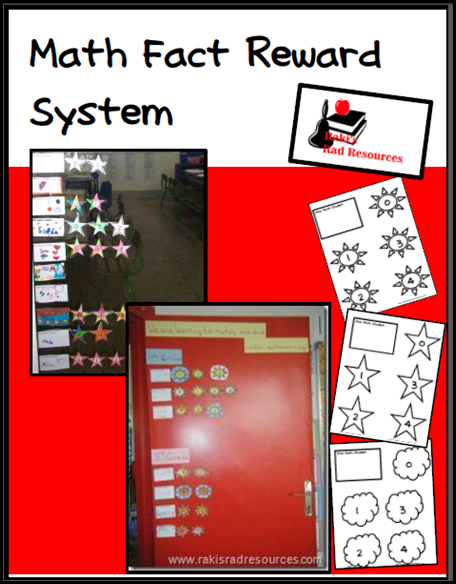 Free math fact reward system for your classroom from Raki's Rad Resources.