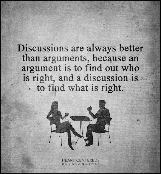Discussion vs argument