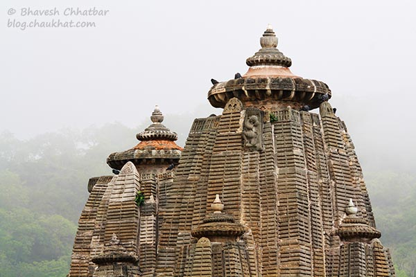Beautiful steeple of a temple at Kumbhalgarh
