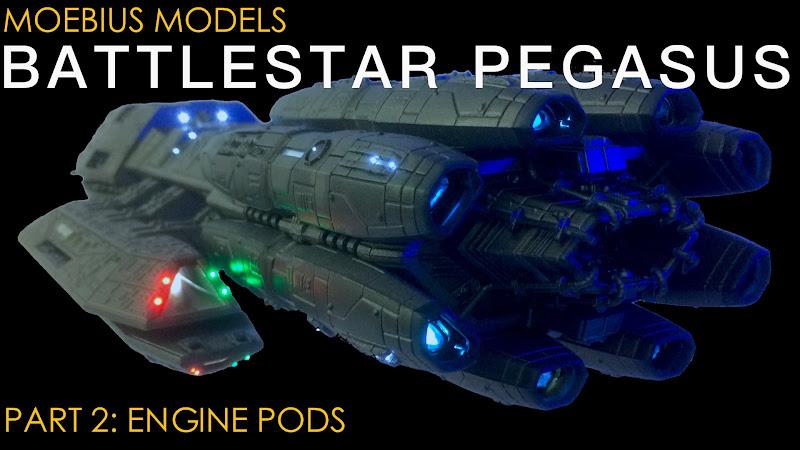 Moebius Models 1 4105 Battlestar Pegasus