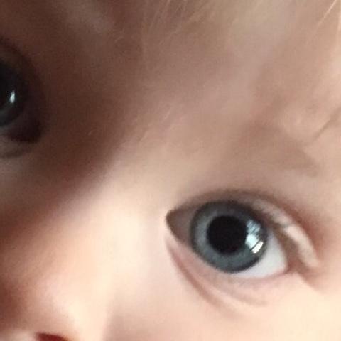 Augen eines Kleinkinds