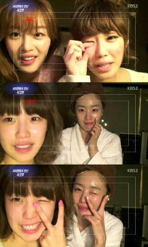 Hyosung And Sunhwa Show Their Bare Faces