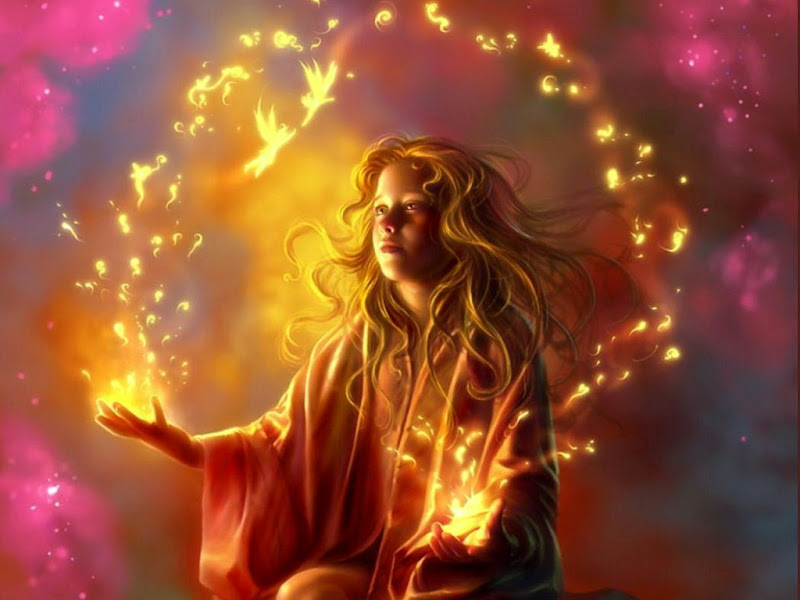 Flame Fairy Dancing, Magic And Spells