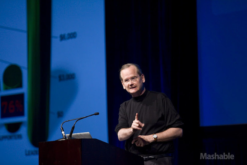 Photo: Lawrence Lessig, Professor of Law and Leadership, Harvard Law School and Director of the Edmond J. Safra Center for Ethics at Harvard University Harvard University