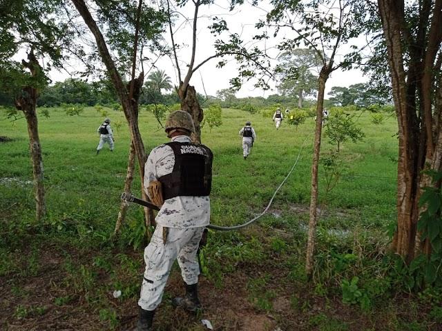 GUARDIA NACIONAL Y PEMEX LOCALIZAN  TOMA CLANDESTINA EN HUIMANGUILLO.