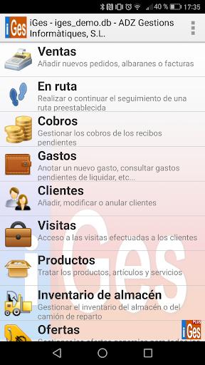 iGes: capturas de pantalla simples de facturación 1
