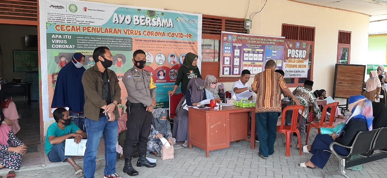 Personil Polres Soppeng dan Polsek Jajaran Perketat Pengamanan Penyaluran BST