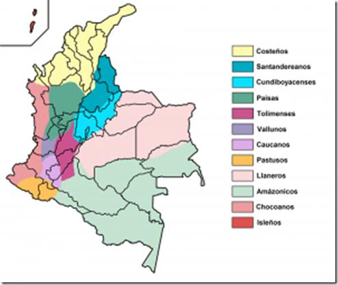 Figura 3. Mapa étnico de Colombia