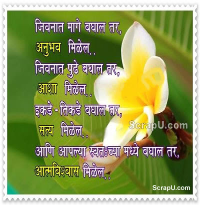 Zindagi me peechhe dekhoge to anubhav milega Zindagi me aage dekhoge to asha milegi...Yaha -vaha dekhoge to TRUTH dikhega - Life pictures