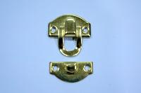 裝潢五金品名:L402-珠寶盒扣規格:25*28m/m材質:鐵製品顏色:金色玖品五金