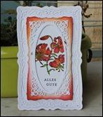 Frühlingskarte Grußkarte Ostern Frühling Spellbinders Tigerlilie
