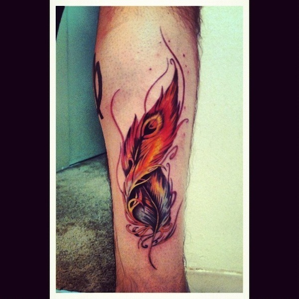 legal_pena_de_pavo_braço_de_tatuagem