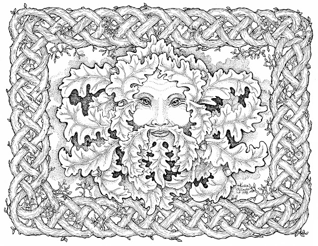 Free Celtic Coloring Pages  Embellishing And Colouring Celtic Design