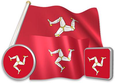 Manx flag animated gif collection