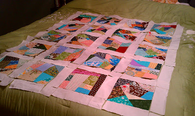 Lap Quilt - Laid Out On Bed