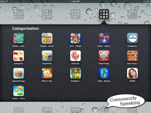 Consonantly Speaking Categorization Apps