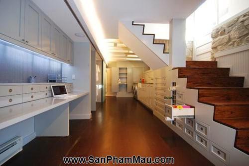 Mẹo thiết kế tủ cầu thang hữu ích - Tủ âm tường gỗ-7