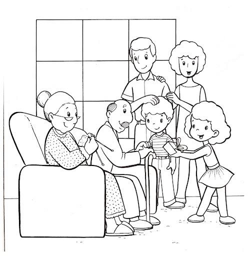Familia extensa imagenes para colorear - Imagui