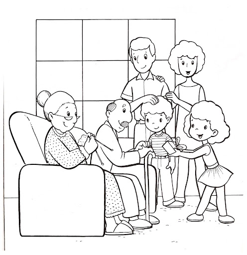 Derecho a una familia imagenes para colorear - Imagui