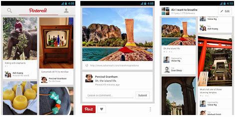 pinterest app voor android iphone en ipad sociale media app. Black Bedroom Furniture Sets. Home Design Ideas