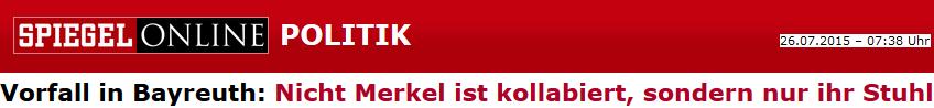 Nicht Merkel ist kollabiert, sondern nur ihr Stuhl