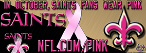 Saints Breast Cancer Awareness Pink Facebook Cover Photo