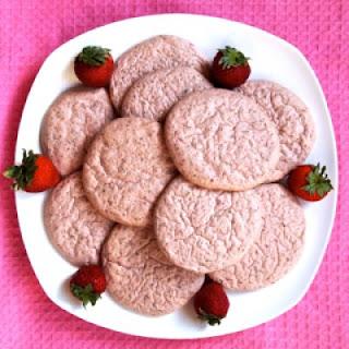 Strawberry Basil Cloud Cookies.
