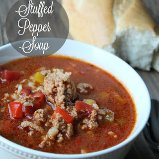 Healthy Stuffed Pepper Soup.