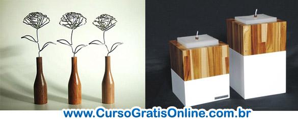 Cursos gratis de como fazer objetos decorativos cursos for Objetos decorativos casa