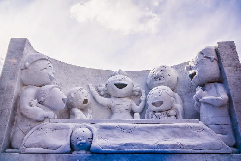 さっぽろ雪まつり サザエさん 写真1