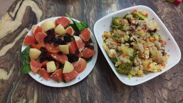 Grapefruit Salad and Thai Pineapple Fried Rice