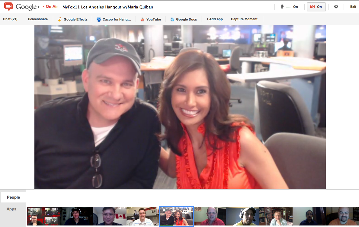 Photo: Mike O'Malley plays the character Burt Hummel (father of Kurt Hummel) in Glee, and Mike is also the awesome writer and consulting producer of Shameless (US) with +Maria Quiban at +myFOXla / FOX Los Angeles #awesome hangout. Very insightful stuff. P.S. I love the original http://en.wikipedia.org/wiki/Shameless a lot. So I really appreciate the US version is also great http://en.wikipedia.org/wiki/Shameless_(U.S._TV_series)