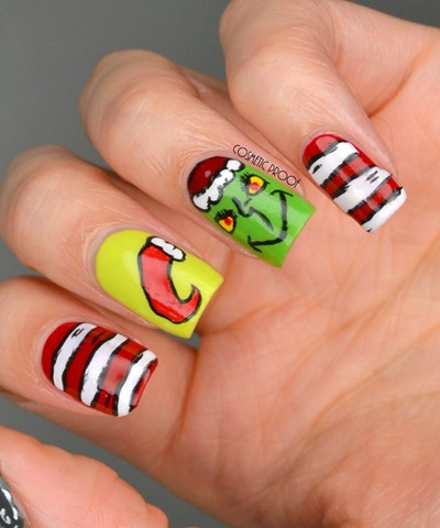 Christmas Grinch Nail Art Essence (6)