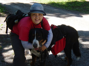 Photo of Kelli and Eiger before our hike on July 9, 2006. Photo by Nick Peyton.