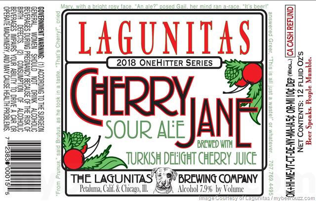 Lagunitas Adding NEW Cherry Jane To 2018 Onehitter Series