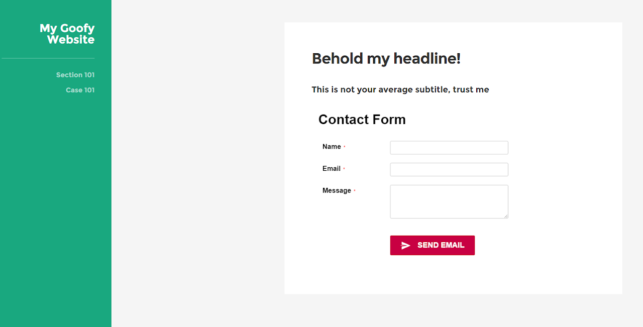 create contact form in Expression Web