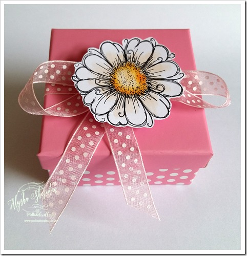 box for ribbon challenge using daisy days stamps 2