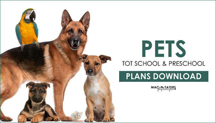 Pet Theme Tot School and Preschool Plans