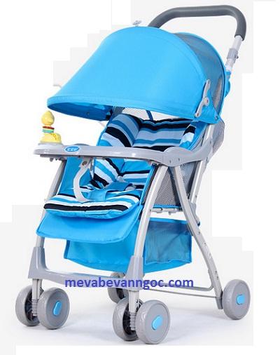 Xe đẩy em bé 722B màu xanh