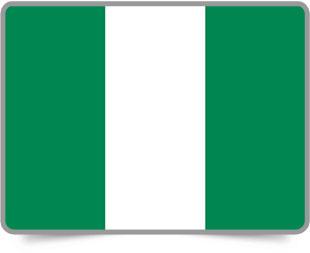 Nigerian framed flag icons with box shadow