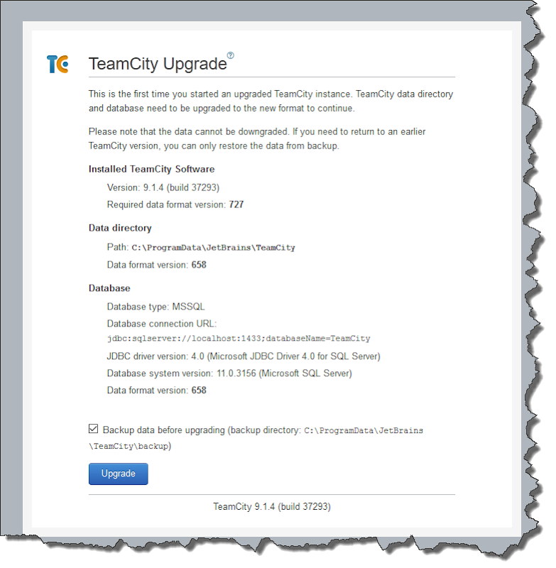 How to upgrade TeamCity ~ andyfrench info